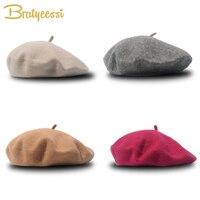 Mode Wolle Baby Hut für Mädchen Süßigkeiten Farbe Elastische Infant Baby Beret Caps für Mädchen 1-4 Jahre 1 PC