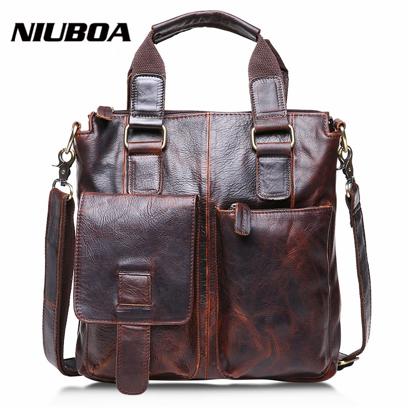 Fashion Genuine Leather Mens Messenger Bags Crazy Horse Man Office Business Bag High Quality Travel Shoulder Handbag for ManFashion Genuine Leather Mens Messenger Bags Crazy Horse Man Office Business Bag High Quality Travel Shoulder Handbag for Man