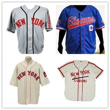 4049ef33 S-5XL New York Cubans The Negro Leagues 1948 Home Baseball JERSEY  Everything Sewn(