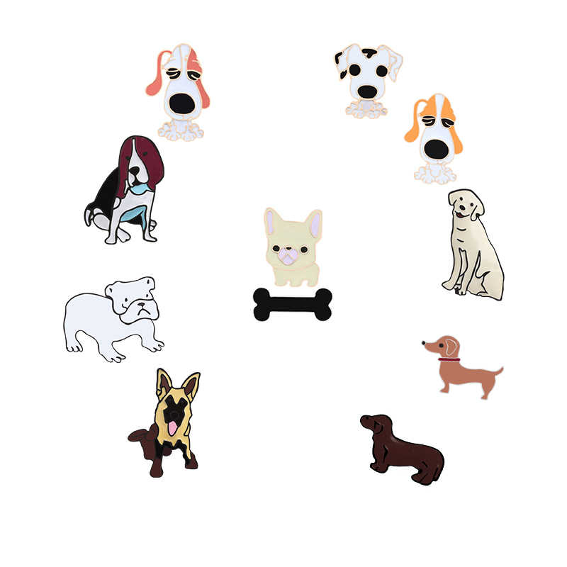 Cartoon Dog Bones Cute Pet Pattern Metal Enamel Pin Brooch Women Coat Backpack Collar Lapel Needle Animal Brooches Jewelry Gift Aliexpress