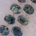 """Nova Zelândia Abalone Shell Beads Pulseira Bangle 8 """"Jóias G275"""
