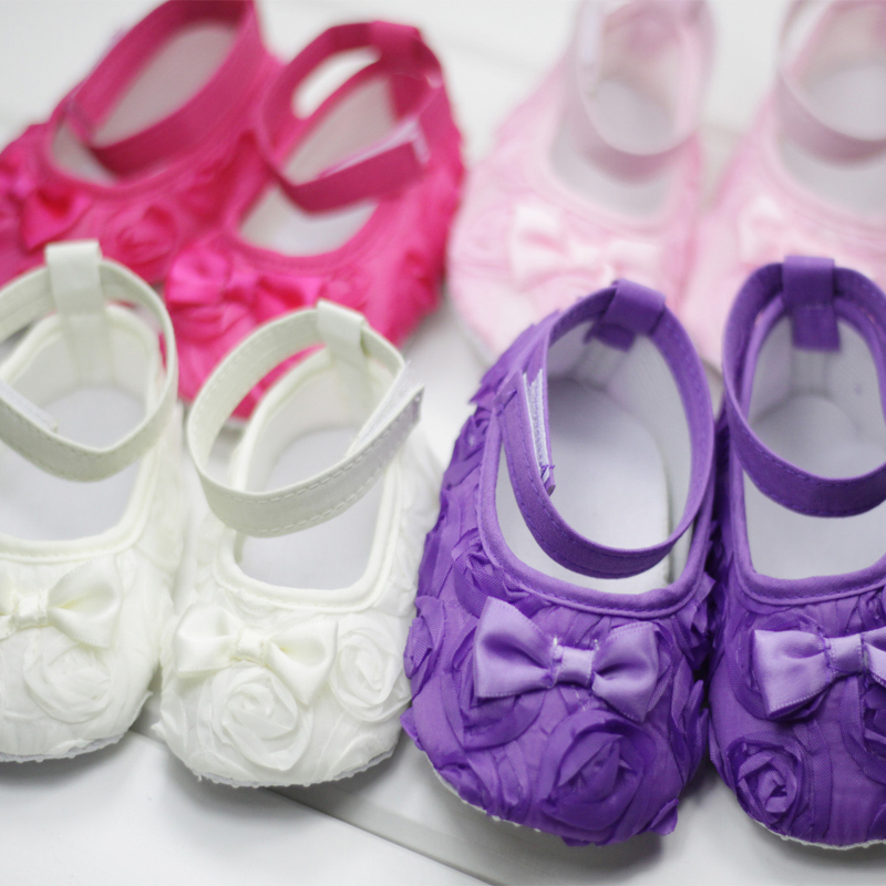 Clearance Baby Girl Floral Lace Prewalker Shoes First Walkers Newborn Infant Toddler Girl Soft Sole Crib Schoenen Scarpe Neonata