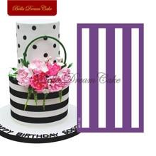 Horizontal Stripes Cake Stencil Fondant Wedding Cake Mold Fabric Mesh Stencils Cake Border Mould Cake Decorating Tool Bakeware