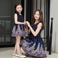 New Summer Family clothes Fashion Mother Daughter Dresses Girls kids dress Family Matching Outfits baby dress Sleeveless Dresses