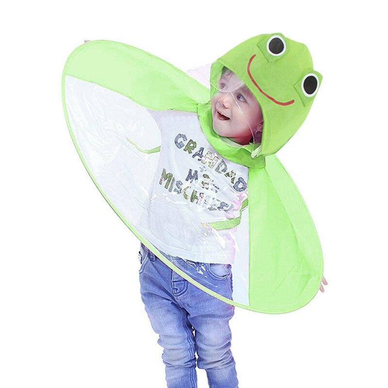 Baby Boys Girls Kids Children Duck Raincoat Umbrella Kindergarten Coat Funny Hot