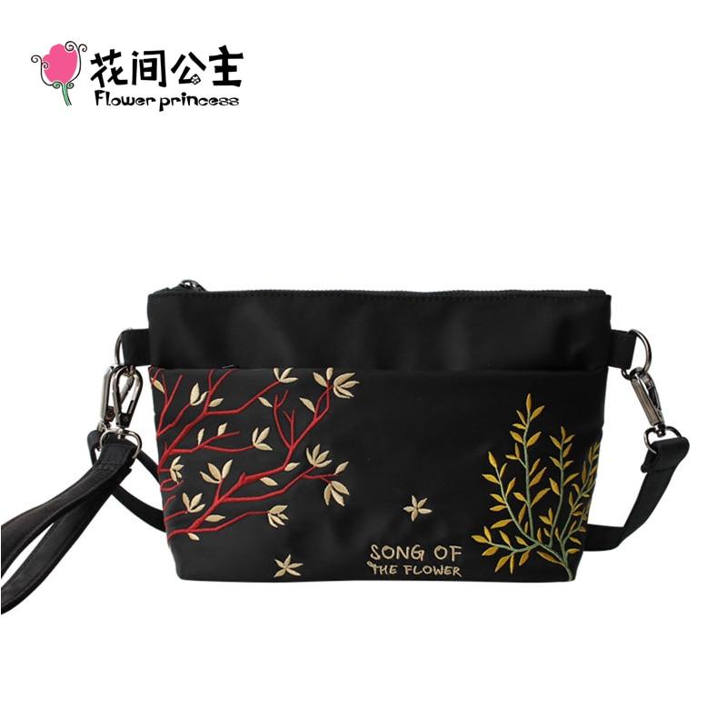 Flower Princess Black Dames Handtas Dames Schoudertas Crossbody-bags Hoge kwaliteit Meisjes portemonnees en handtassen Kleine tassen voor vrouwen