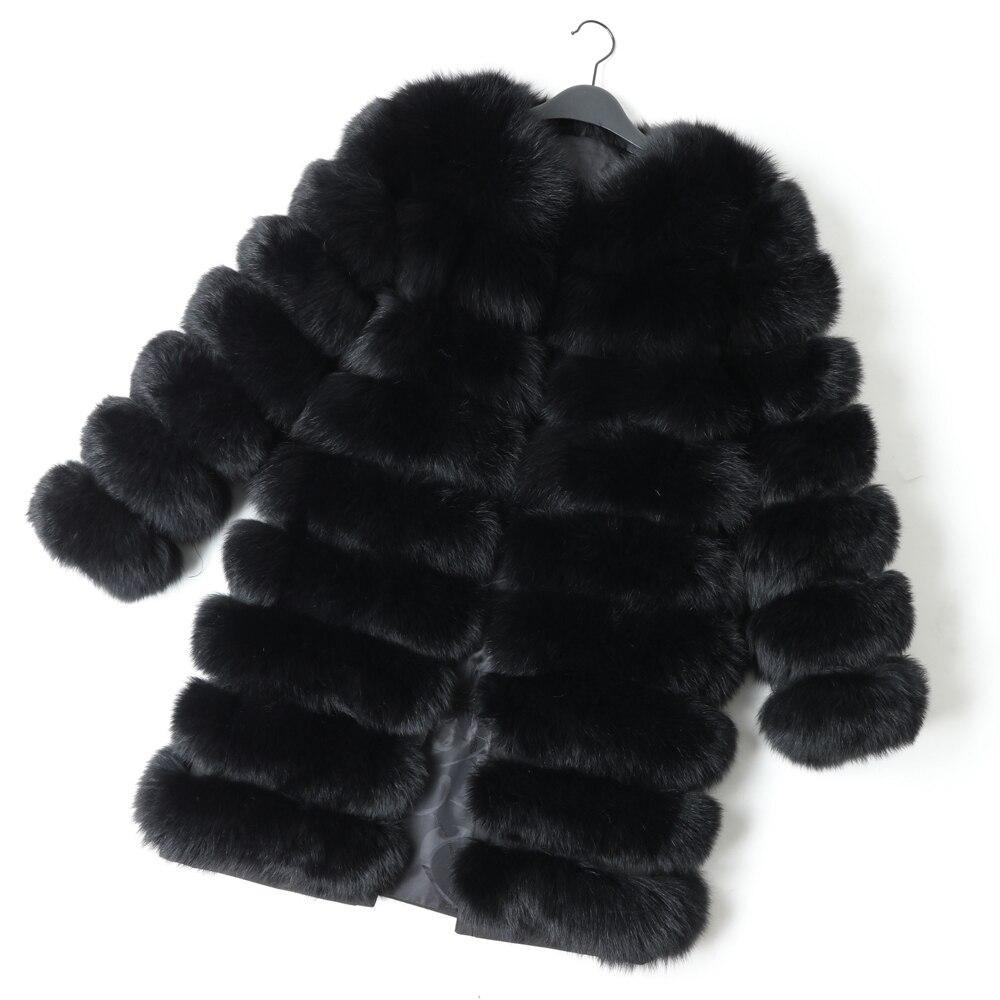 Maomoackong2019 модная новая стильная куртка с натуральным лисьим мехом, Тонкая зимняя женская куртка с круглым вырезом и натуральным мехом, кожаная жилетка для девочек