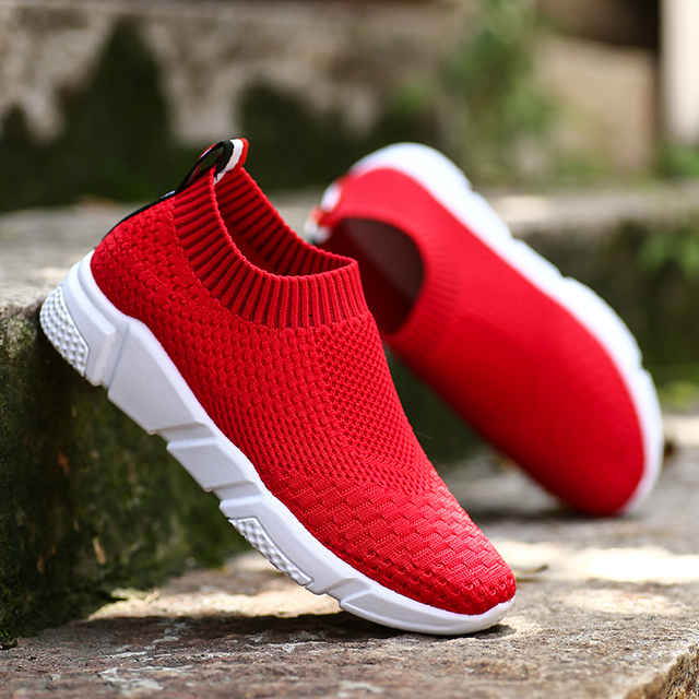 Baideng Новые 2018 летние спортивные кроссовки для Для женщин Обувь с дышащей сеткой носки кроссовки женские уличный Топ качество спортивная обувь