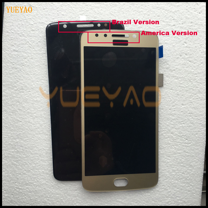 YUEYAO LCD <font><b>Display</b></font> For Motorola <font><b>Moto</b></font> <font><b>E4</b></font> <font><b>XT1763</b></font> XT1762 XT1772 LCD <font><b>Display</b></font> Touch Screen Panel with Digitizer Front Glass Assembly image