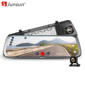 "Junsun Car DVR 4G Android 10 ""Camera Video Recorder IPS Stream RearView Mirror"