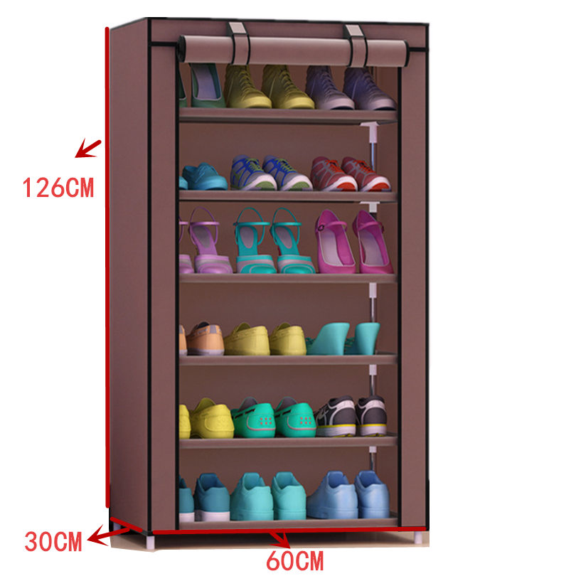 7Tier:  Non-woven Shoes Rack Storage 7Tier 6 Gird Large Capacity Home Furniture DIY Simple Cabinet - Martin's & Co
