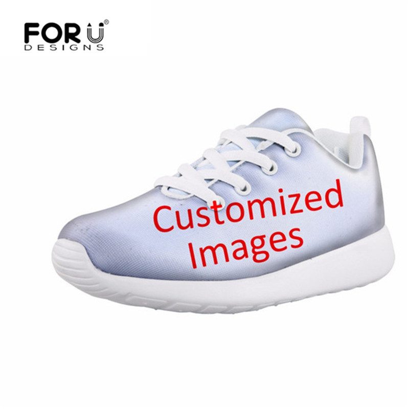 FORUDESIGNS Customize Image Spring/Autumn Men Flats Shoes Children Shoes Boys Lightweight Casual Breathable Mesh Kids Sneakers