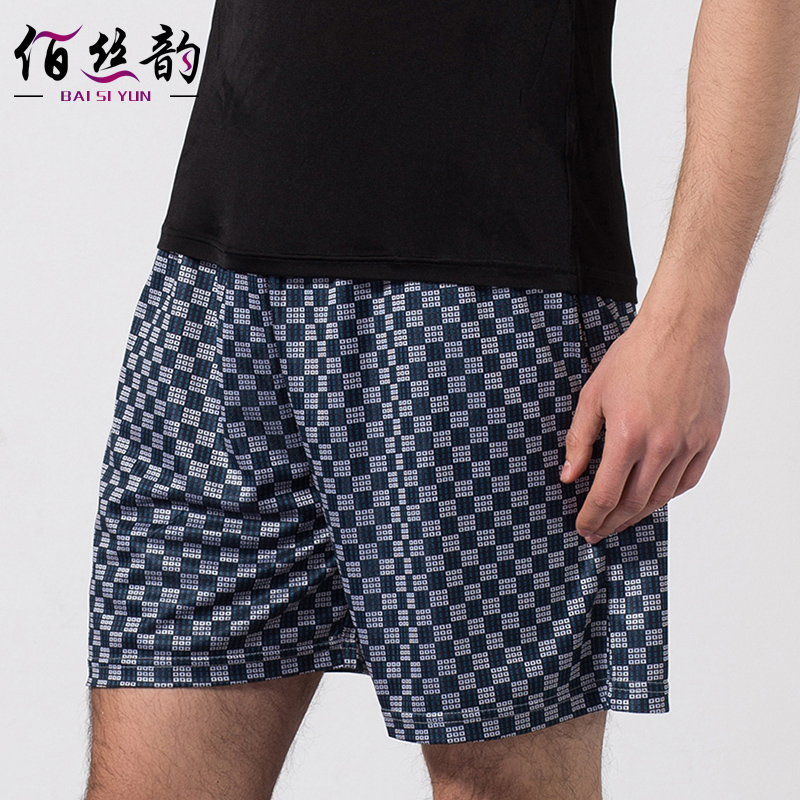Men\'s Knitted Silk Printing Silk Leisure Beach Shorts In Summer 100 ...
