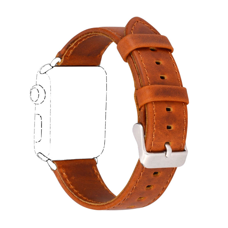 Serija 2/1 100% pravega usnja trak za ročno uro za Apple Watch Band - Dodatki za ure - Fotografija 2
