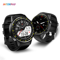 Interpad GPS Sport Smart Watch 1.3 Inch MTK2503 Smartwatch Support SIM Card Wristwatch With Camera Compass For Samsung Gear 3