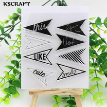 KSCRAFT Projects Arrows Clear Silicone Rubber Stamp for DIY scrapbooking/photo album Decorative craft