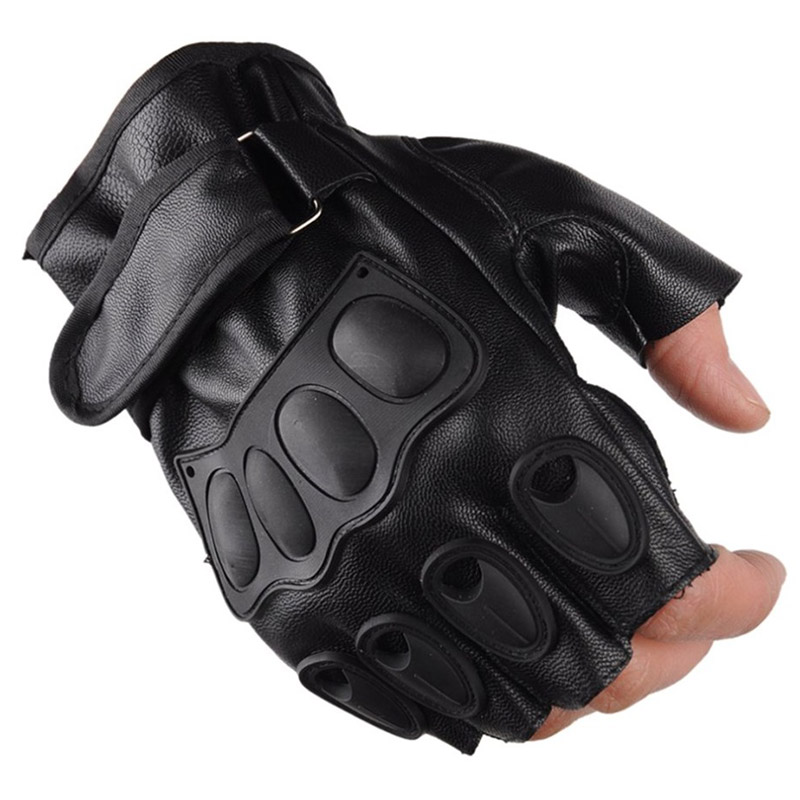 LESHP-Half-Finger-Gloves-PU-Leather-Men-Gloves-For-Tactical-Military-Exercise-Training-Sports-Motorcycle-Ridding (2)