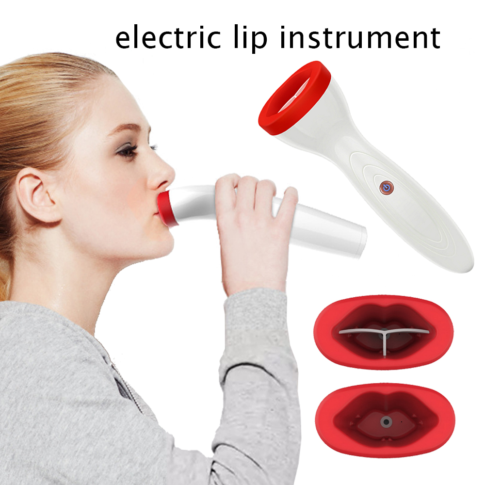 Silicone Lip Plumper Device Electric Lip Plump Enhancer Care Tool Natural Sexy Bigger Fuller Lips Enlarger Labios Aumento Pump