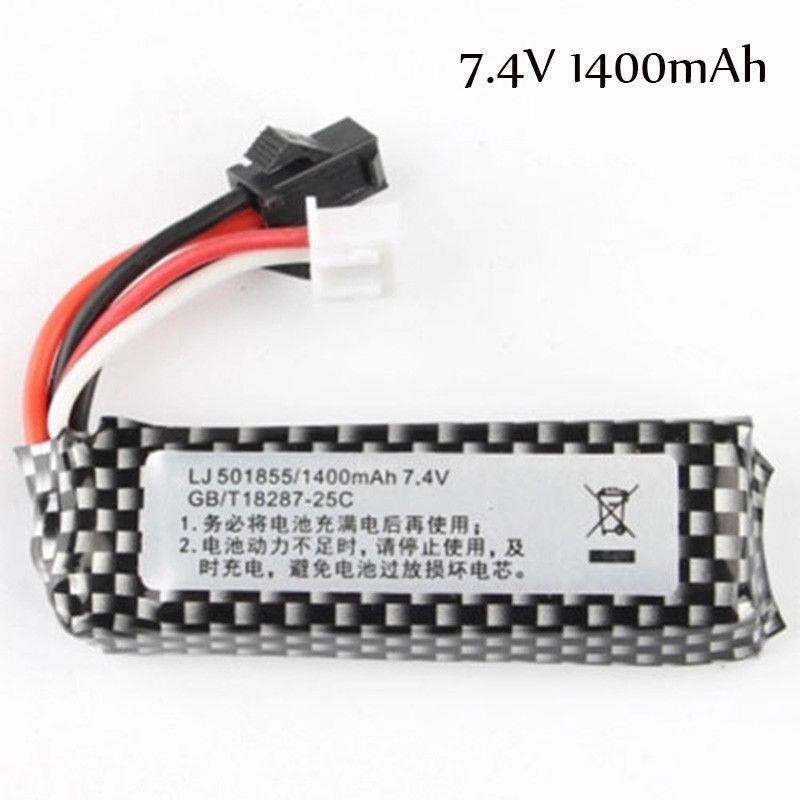 Zhenduo Toys  Accessories 7.4V 1400mah 11.1V 1800mah Short Lithium Battery  For Gel Ball Blaster Water Toy Gun