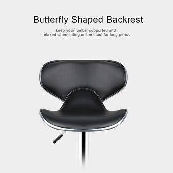 2 piezas de elevación de Gas ajustable taburetes sillas modernas PU ...