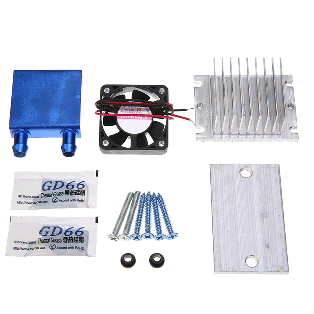 12V Practical Thermoelectric Peltier Semiconductor Cooler Refrigeration Cooling Fan System Heatsink DIY Kit12V Practical Thermoelectric Peltier Semiconductor Cooler Refrigeration Cooling Fan System Heatsink DIY Kit
