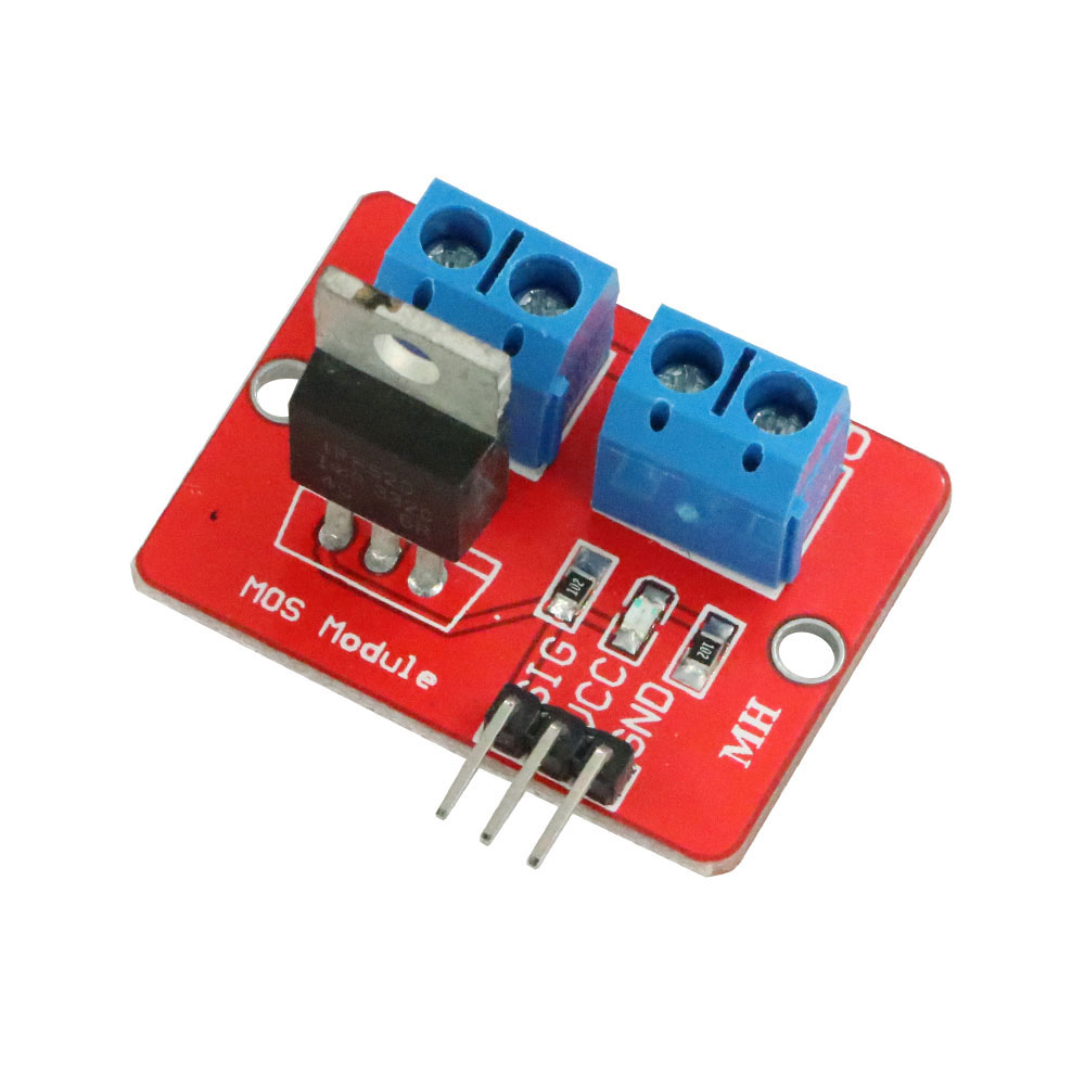 0-24V Top Mosfet Button IRF520 MOS Driver Module For Arduino MCU ARM Raspberry Pi 3.3v-5V IRF520 Power MOS PWM Dimming LED