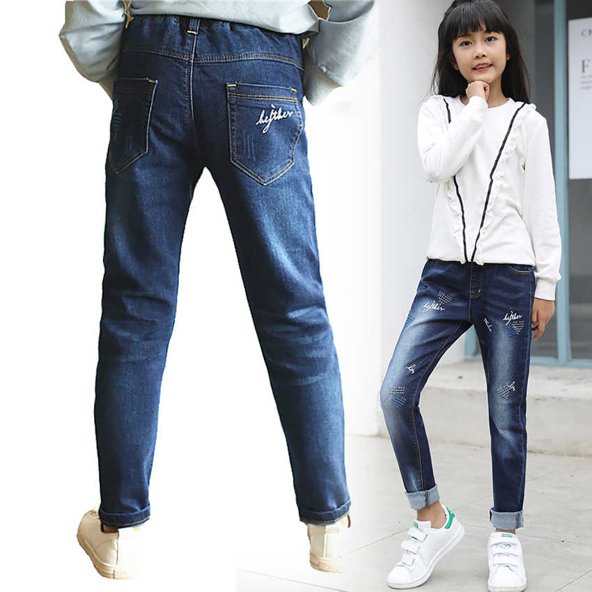 Spring Autumn Baby Girl Clothes  Casual Pencil Trousers Denim Jeans Pants For Teens