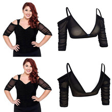 Amazing Arm Sleeve Shapewear Sexy Backless Crop Tops Slimming Control Arm  Shapewear Shaper Fashion Women Plus 2d93a1c932c8