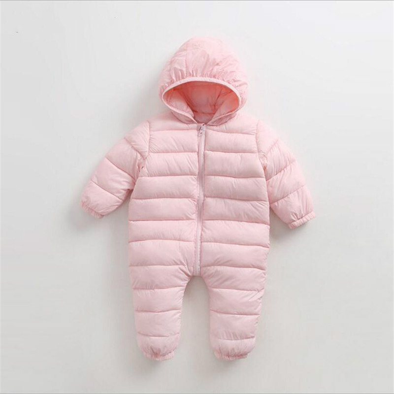 Baby Jumpsuits Boys Girls Winter Overalls Baby Rompers Long Sleeve Cotton Down Thick Warm One-piece Kids Outerwear Snowsuit baby girl rompers 100% cotton overalls autumn winter kids long sleeve jumpsuits newborn infantil boys clothes baby costume bebes