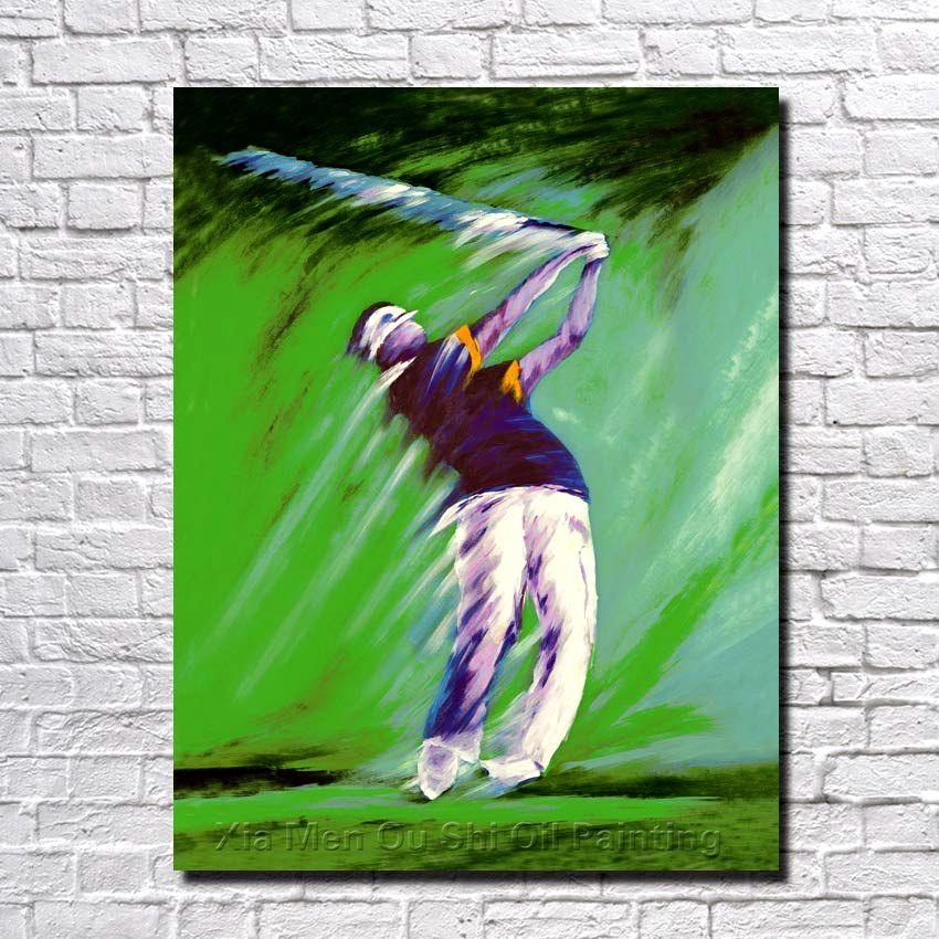 Freies Verschiffen Handgemalte Wand Leinwand Kunst Abstrakte Golf ...