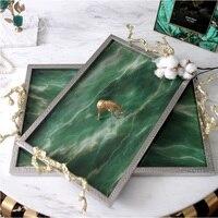Изумрудный блюдо/Искусственный камень/серебряное покрытие рамка