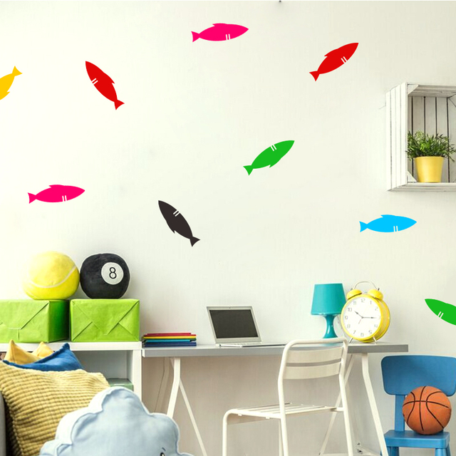 vinyl small fish wall stickers can remove the kitchen toilet glass