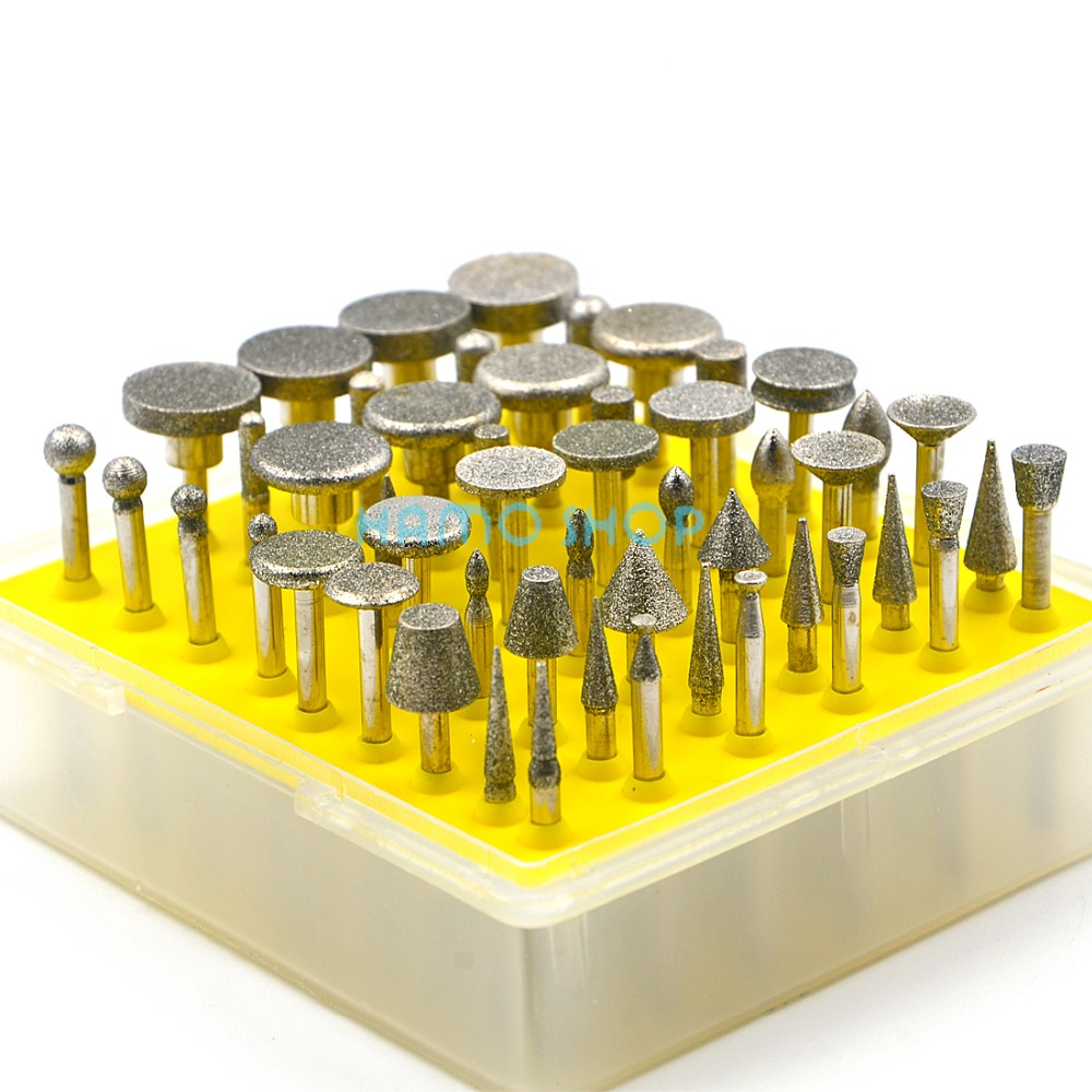 Style A Diamond Rotary Tools Set 50pcs Drill Sanding Accessory Burr Grinding Kit Wheel