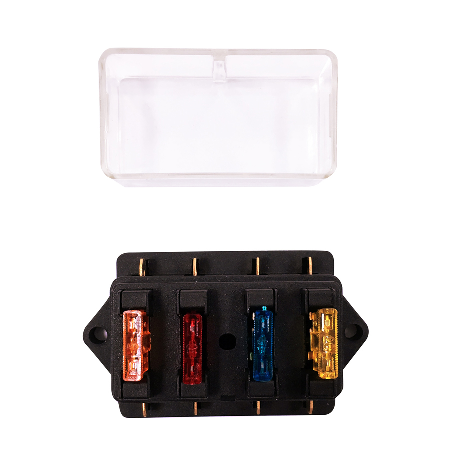 hight resolution of 4gang 32v 24v 12v car fuse holder truck rv racing marine boat fuse box 1a 40a power protection in fuses from automobiles motorcycles on aliexpress com