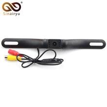 Sinairyu 7 LED Infrared IR Night Vision Waterproof Car License Plate Frame Rear View Camera Car Parking Video Camera