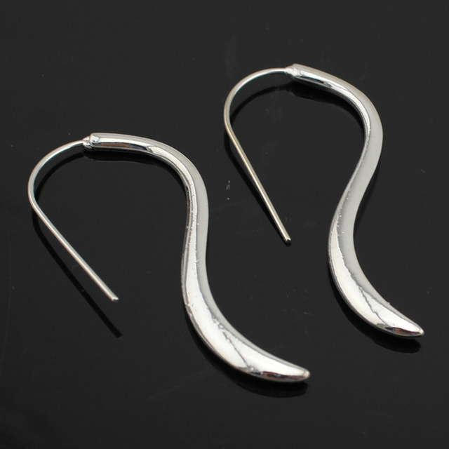 Trusta Gold/Silver/Black Simple Hoop Earrings