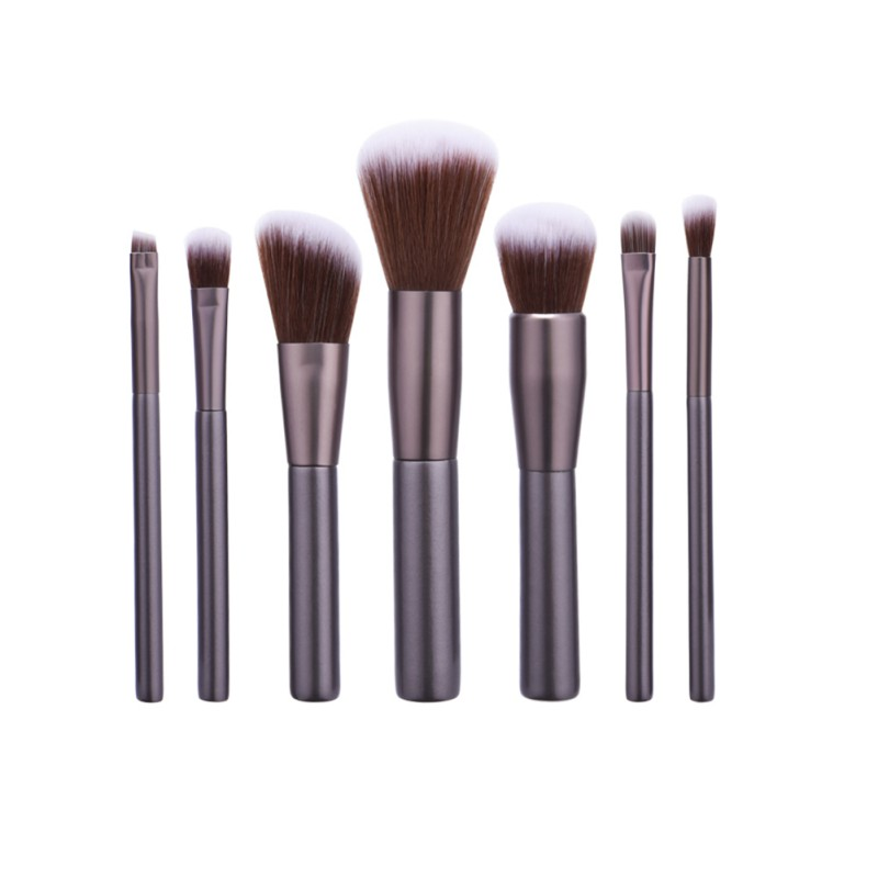 7 Stks Professional Makeup Brush Sets Synthetic Hair Make Up Brushes Brown Tools Cosmetic Foundation Brush Eye Shadow Lip Brush emily multifunctional professional cosmetic make up foundation soft brush red brown black