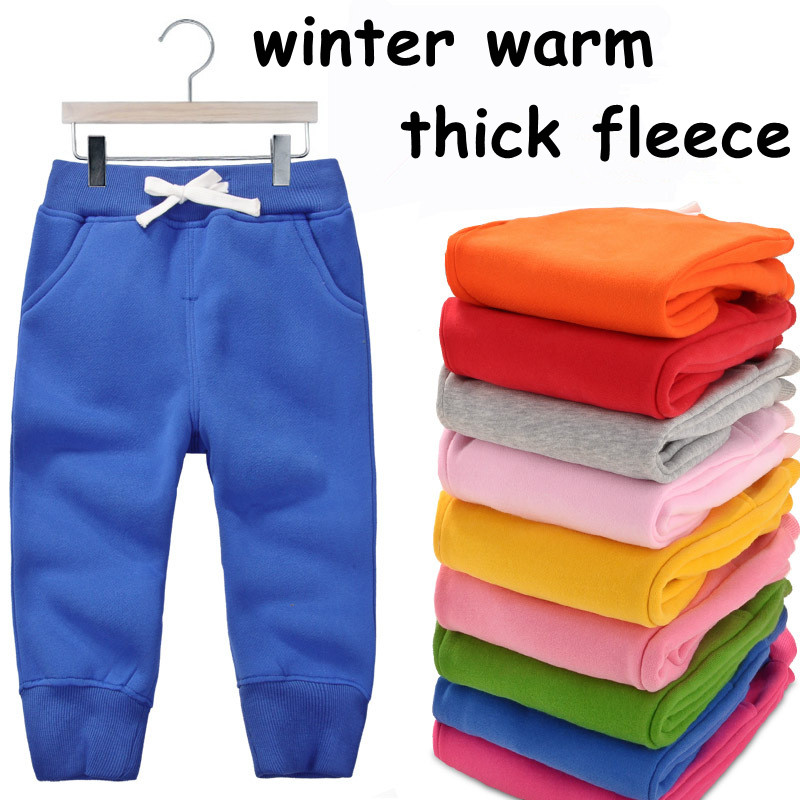 1-5Y baby pants children trousers boys winter pants fleece warm thick pants for girls clothing boy trousers autumn 1014