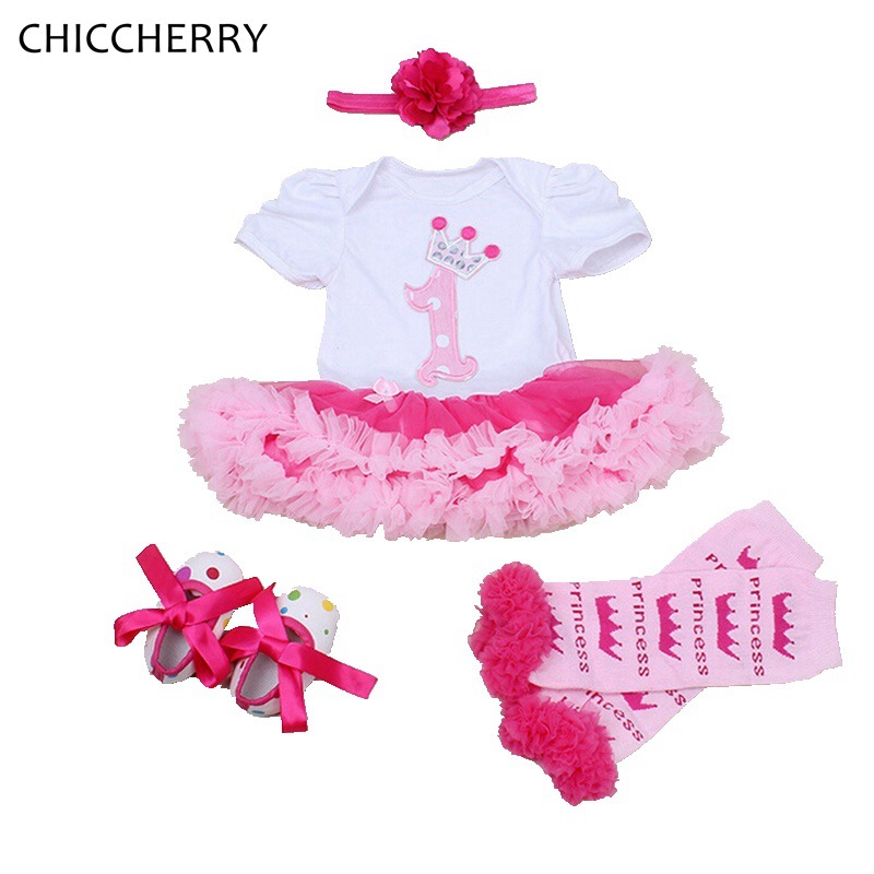 1 Year Birthday Tutu Outfits for Girls Toddler Baby Girl Lace Tutu Headband Set Birthday Party Dress Vestido Bebe Kids Clothes crown princess 1 year girl birthday dress headband infant lace tutu set toddler party outfits vestido cotton baby girl clothes