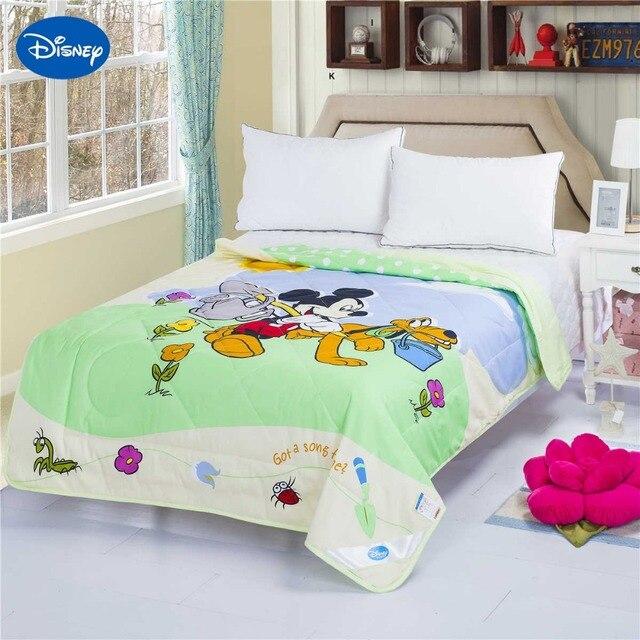 Light Green Mickey Mouse Goofy Summer Quilt Comforter Children's ... : light summer quilt - Adamdwight.com