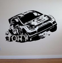 VW Golf Rally Mobil Wall Art Sticker Decal Anak Kamar Motorsports Vinyl Mural(China)