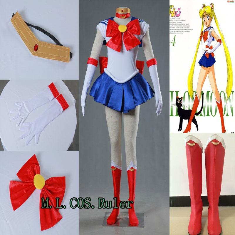 98f085f171 Più nuovo Cosplay Sailor Moon Usagi Tsukino Costume Formato Adulto Set  Completo Sveglio Vestito Da Alta Qualità di Qualsiasi Dimensione Cos Anime  in Più ...