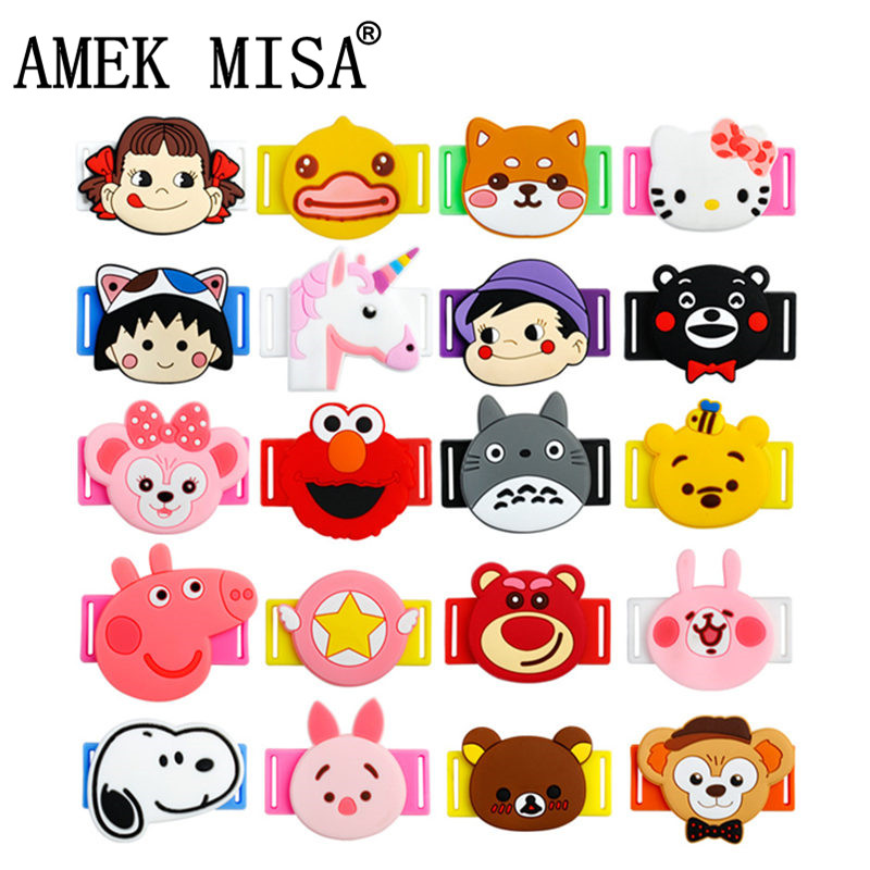 AMEK MISA 20Pcs/Lot Novelty Cartoon Shoelace Charms Cute Unicorn Shoe Decorations Casual/Sports Shoes Accessories For Kids Gifts