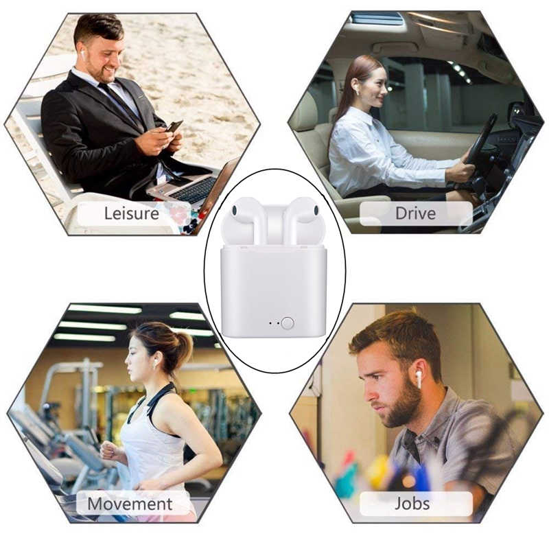 Briame i7s Tws słuchawki Bluetooth Mini bezprzewodowe słuchawki douszne sportowe słuchawka zestawu głosnomówiącego bezprzewodowy zestaw słuchawkowy z okno ładowania