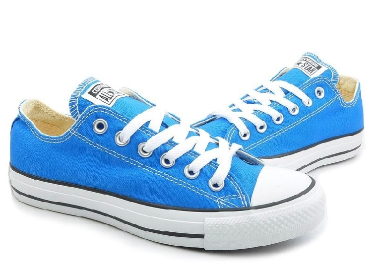 Original Converse all star men's and women's sneakers Sky blue canvas shoes  for men women low Skateboarding Shoes free shipping-in Skateboarding Shoes  from ...