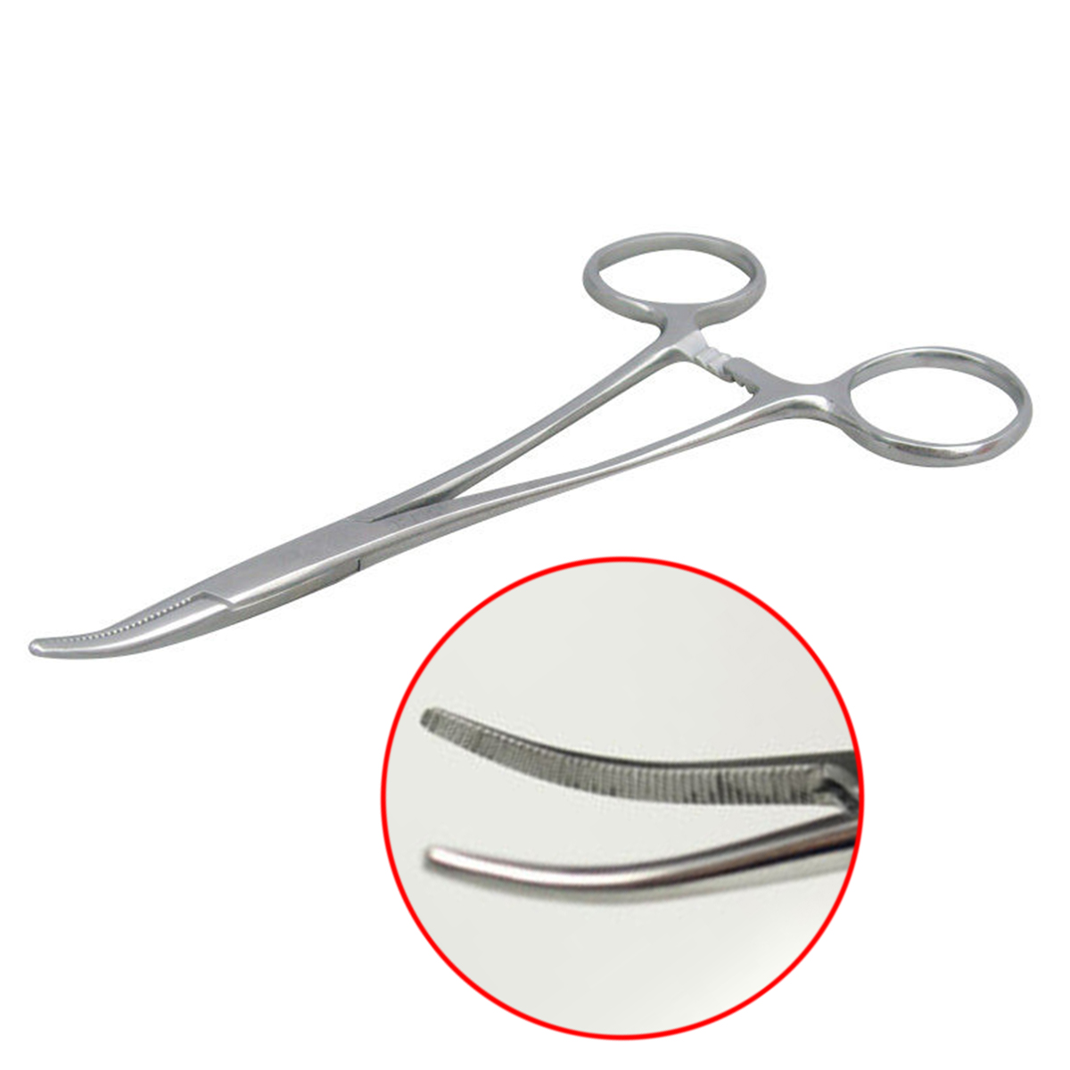 Stainless Steel Fishing Curved Tip Hemostat 12.5cm Haemostatic Locking Clamps Forceps Scissors Pliers Mayitr