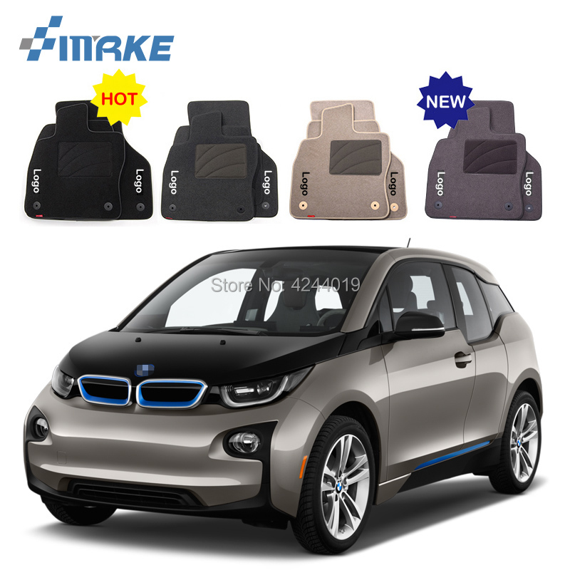 For BMW i3 Car Floor Mats Front Rear Carpet Complete Set Liner All Weather Waterproof Customized Car Styling цена 2017