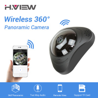 H VIEW 360 CCTV Camera 720P IP Camera Wifi Cameras 960P Camara IP 1200TVL Fisheye Video