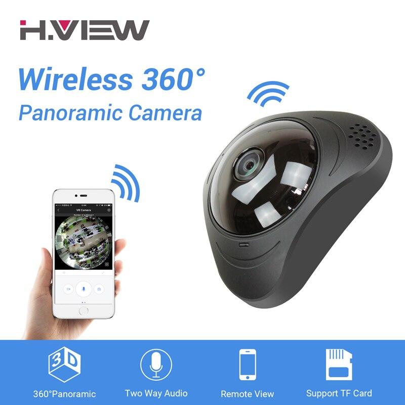 H. VIEW 360 Telecamere Cctv 720 P IP Wifi Della Macchina Fotografica 960 P Camara IP 1200TVL Fisheye Videosorveglianza telecamere