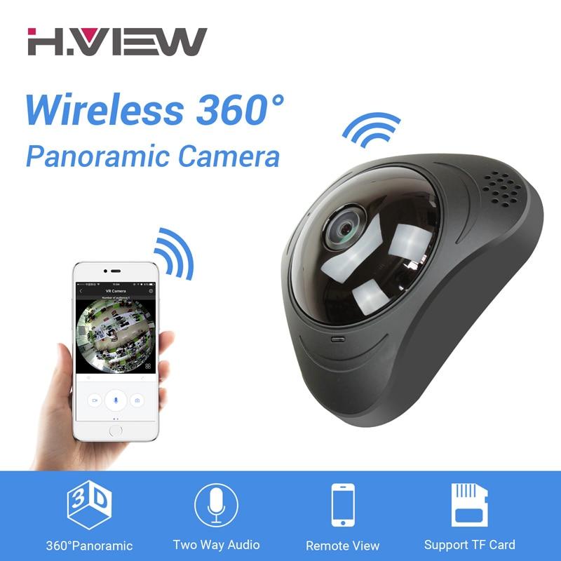 H. VIEW 360 caméra cctv 720 P IP Caméra thermomètre à lait 960 P Camara IP 1200TVL Fisheye Vidéo caméras de surveillance